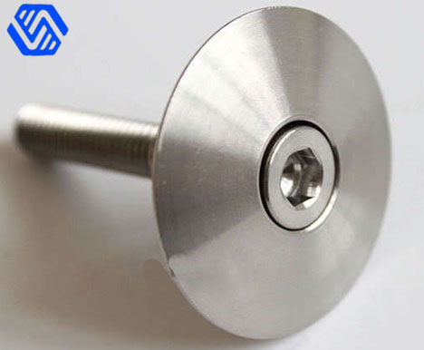 Titanium crank chain ring CNC turning bolt