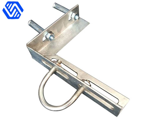 Angle steel bracket with U bolt and anchor